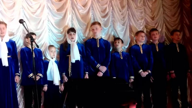 Рождественский хор песня Тихо по ступенечкам