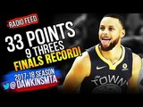 Stephen Curry CRAZY 33 Pts, FiNALS RECORD 9 Threes in 2018 Finals GM2 vs Cavs! GSW Radio Feed