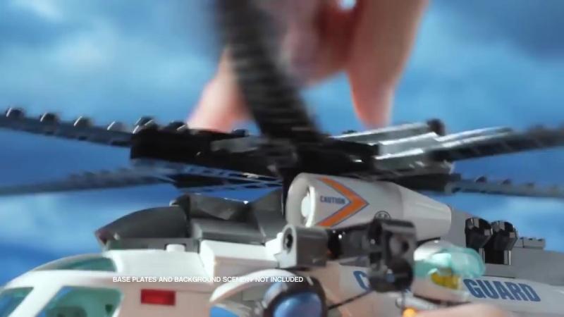 Lego City Лего Город Патруль береговой охраны 60014 и Coast Guard Helicopter 600