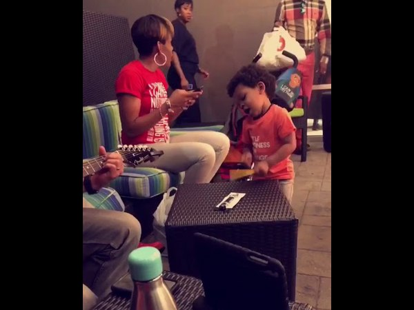 """Lennox 2 year old drummer percussionist plays Speak Life I can"""""""