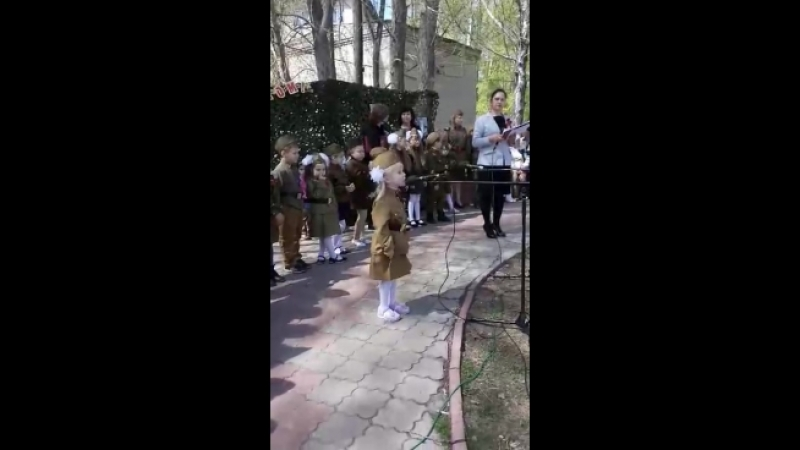 Новоульяновск. 9 мая 2018г. Девочка расстрогала до слёз