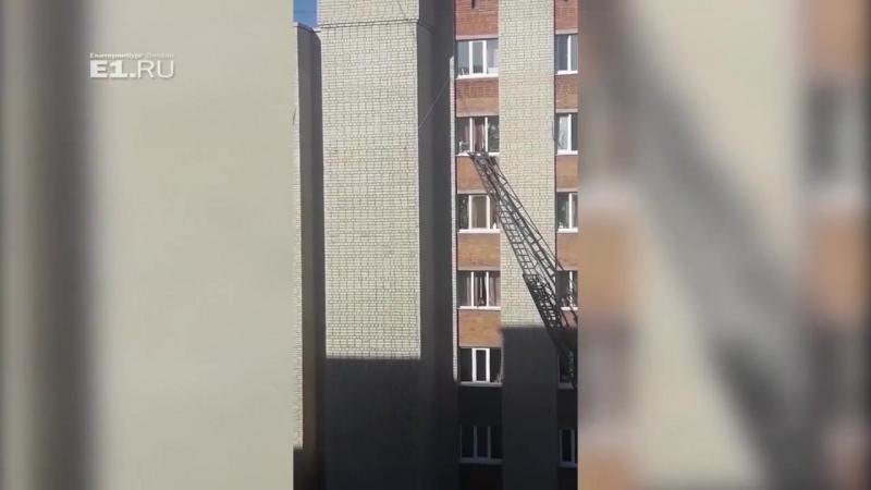 Спасатели лезут в окно