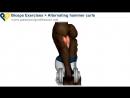 Упражнение на бицепс Подъем гантелей на бицепс молот