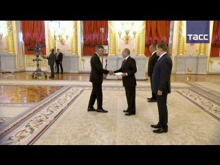 Церемония вручения верительных грамот президенту России