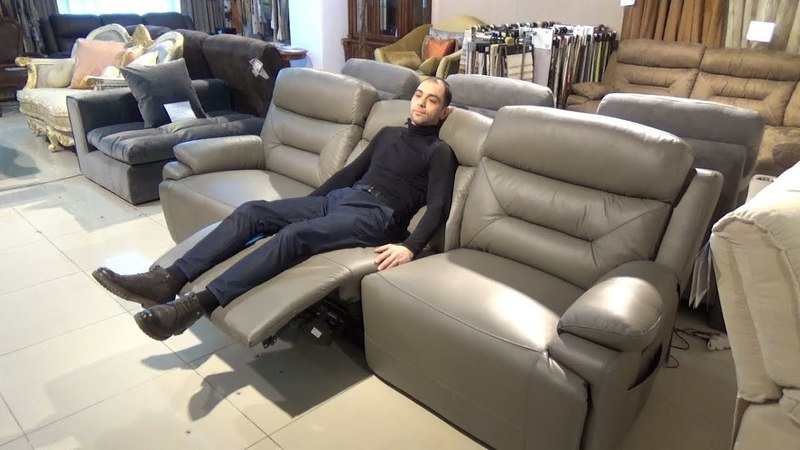 Видео обзор: Модульный диван Амелия с электро реклайнерами