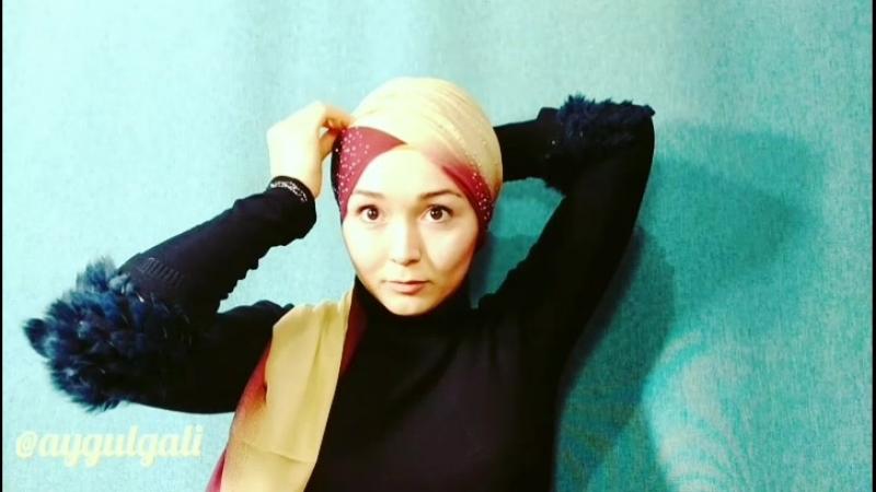 Способ завязывания шарфа от Aygul Gali