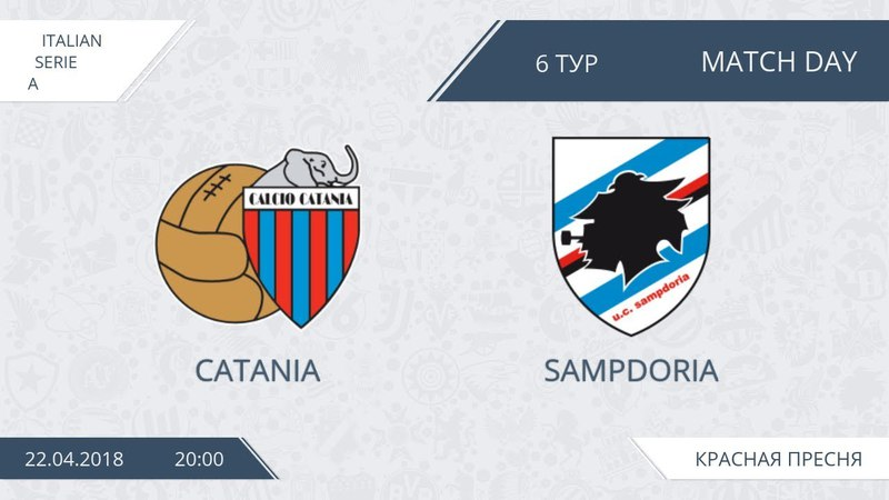 AFL18. Italy. Serie A. Day 6. Catania - Sampdoria