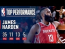 James Harden Gets a Triple-Double, Leads Rockets Past Cavs  November 9, 2017