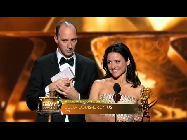 Julia Louis Dreyfus wins an Emmy for Veep 2013