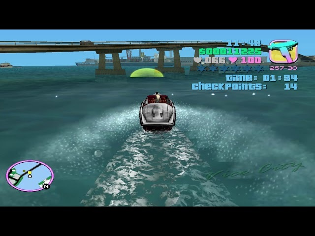 GTA: Vice City - Stunt Boat Challenge (Level 18)