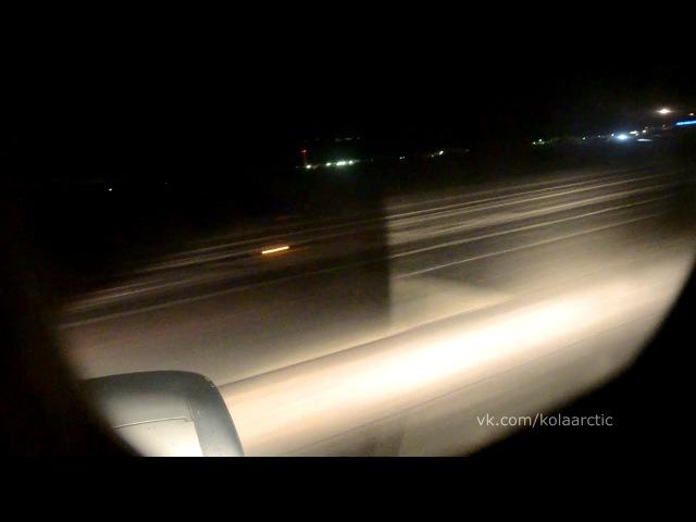 Ночной взлёт из Мурманска / Boeing 737-500 Utair