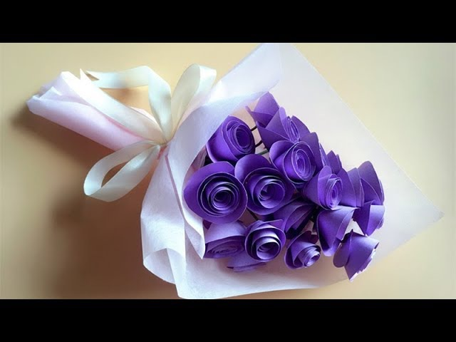 ABC TV | How To Make Twisted Rose Paper Flower And Wrap Flower - Craft Tutorial
