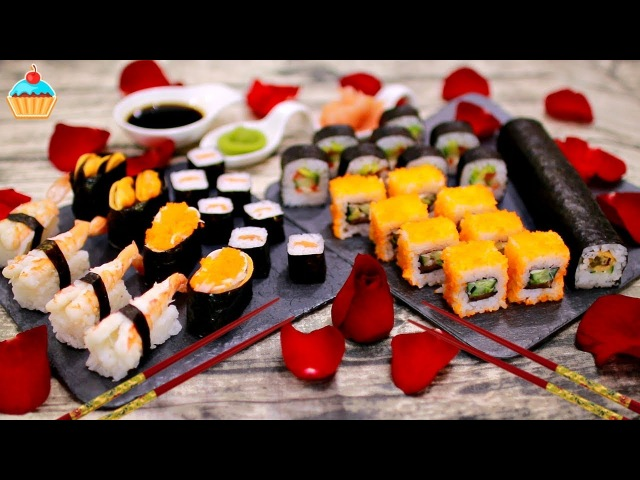 Праздничный ужин по-японски суши и роллы с Makimaker - ну, оОчень вкусный!