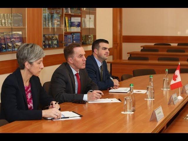 З робочим візитом Академію відвідали представники посольства Канади в Україні