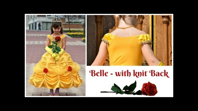 How to sew a Belle dress with ruffle skirt and knit back