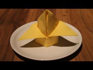 Servietten falten: 'Bischofshut' für Hochzeit, Geburtstag+Weihnachten [W+]