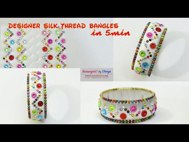 How To Make Designer MultiColor Stone Bangle Kundan Bangle At Home