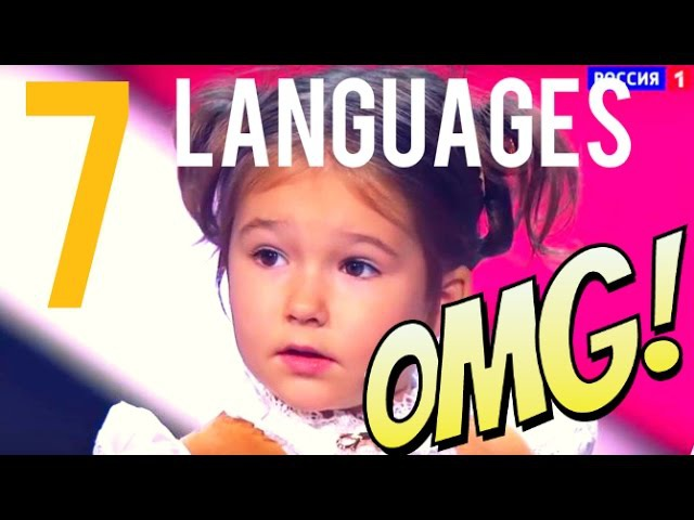 Cute 4 Years old Speaks 7 Languages (Bella Devyatkina)
