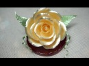 설탕공예-백장미 만들기/How to make a sugar white rose : Team_Seika Sugar Flower/飴細工ー白バラ