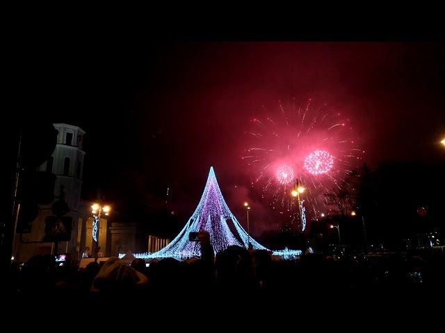 2018-ųjų sutikimas Katedros aikštėje New year celebration in Vilnius, Cathedral Square