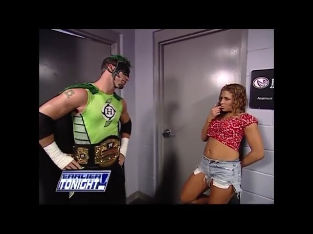Nidia The Hurricane Backstage SmackDown 06 13 2002