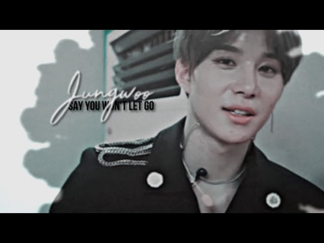 Jungwoo |NCT| say you won't let go