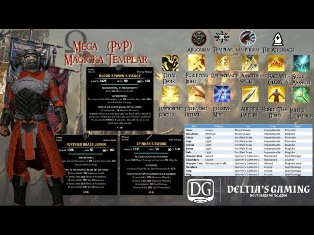 Omega Magic Templar PvP Build for ESO Clockwork City DLC