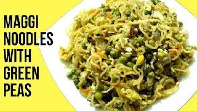 Green Peas Noodles | Maggi Noodles Recipe | Egg Maggi Masala | Bachelors Recipe | Easy Tiffin | Nian