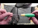 Технология прошивки кожи крючком с ушком The technology of sewing shoes with a hook