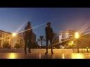 Девушка и парень танцуют Шафл shuffle