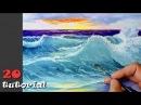 Как нарисовать море, воду гуашью Урок живописи.