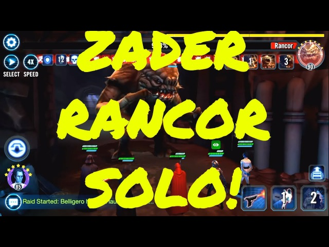 Star Wars Galaxy of Heroes: My Darth Vader Zeta Leader SOLO ENTIRE Heroic Rancor Run!