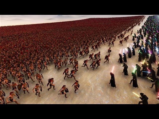 1000 Jedi vs 25000 Spartans Ultimate Epic Simulator тольятти тлт трейлер кино hd 4k блондинка брюнетка не мжм жмж сиськи