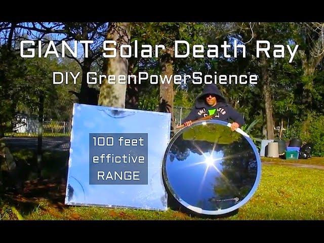 Solar Death Ray 10,000 suns 48 DIY Giant Archimedes Parabolic Mirror Reflector