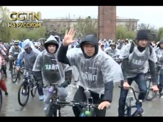 Велосипедисты Бишкека открыли весенне-летний массовым заездом