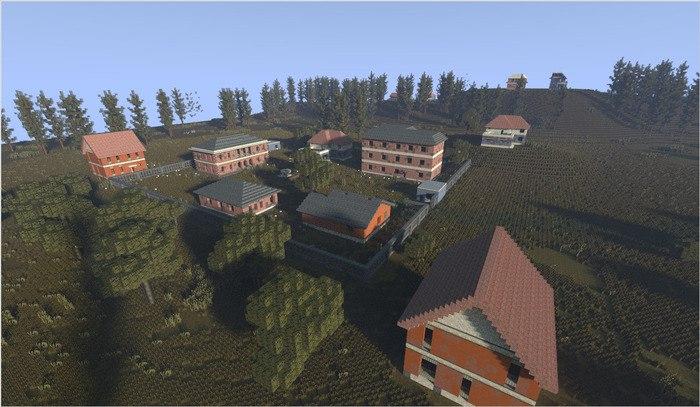 #1 Карта PUBG в Minecraft - Тюрьма и Мэншон