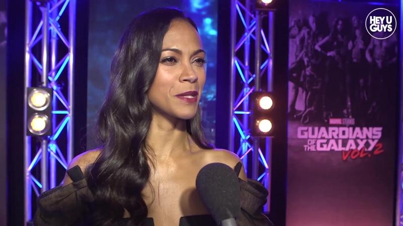 Zoe Saldana Premiere Interview - Guardians of the Galaxy Vol. 2