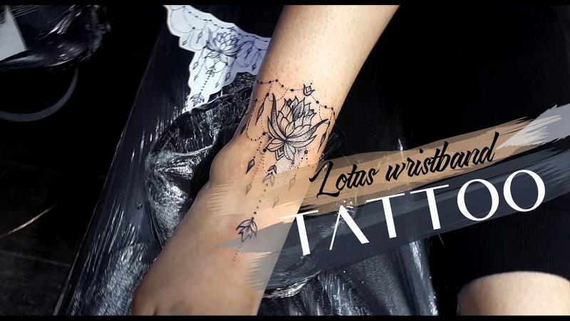 Tattoo lotus wristband