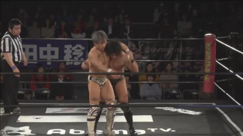 Koji Kanemoto, Minoru Tanaka vs. Shunma Katsumata, Mizuki Watase (DDT DNA 41 - Valentine Special!)