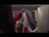 Евгения Медведева показала спрятанный триколор в форме российских олимпийцев.