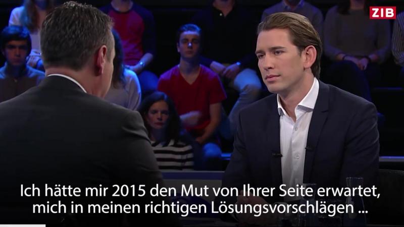 2017-10-10 ORF, ZIB: Strache zerlegt Kurz im Fernsehen: Sie haben leider versagt