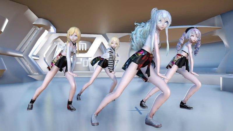 [MMD]1791 TDA V-Girls Run Devil [DL][1080P,60FPS][RAY MMD]