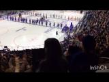 Гимн Российской Федерации исполняют болельщики #СКА #хоккей #Ледовый Дворец