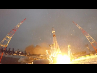 Пуск ракеты-носителя «Союз-2.1б с космодрома Плесецк