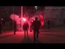 Московские фанаты футбольной команды Спартак устроили драку в испанском городе Бильбао с болельщиками Атлетика