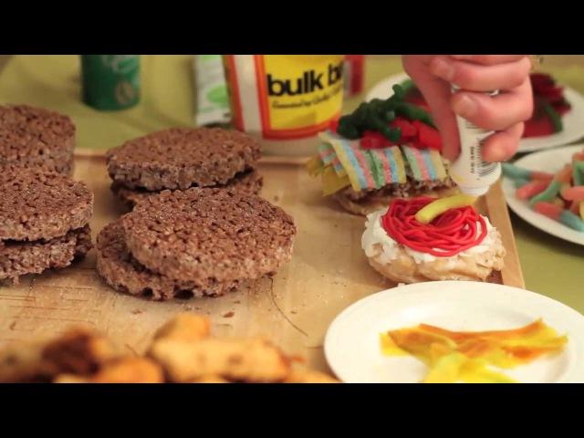 Фаст Фуд из сладостей - Epic Meal Time (rus)