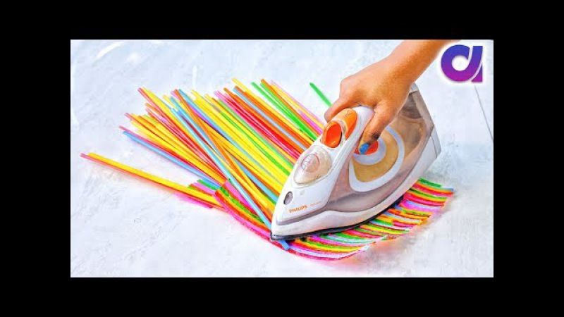 10 Super Cool drinking straws Crafts ideas   Best out of waste   Artkala 405