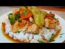 Ризотто по цыгански Рис с мясо и овощами в соевом соусе