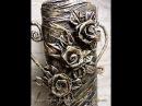 Розы для декора из скотча Мастер класс