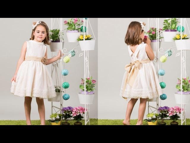 Vestido de arras. REVISTA PATRONES INFANTILES Nº 6